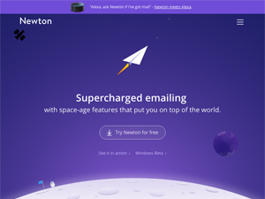 Supercharged emailing with space-age features - Newton