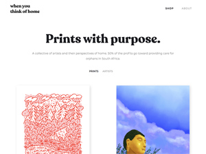 When You Think of Home - Prints for a Purpose