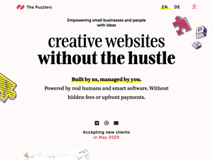 Creative websites for small businesses and people with ideas